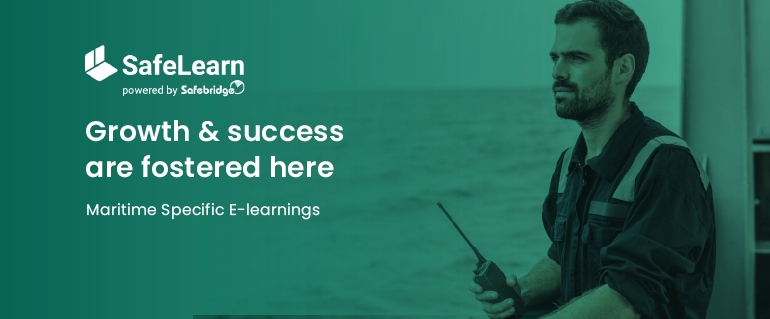Meet SafeLearn. Maritime-specific e-education at its best.