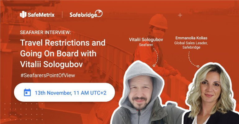 Seafarer Interview: Travel Restrictions and Going On Board with Vitalii Sologubov