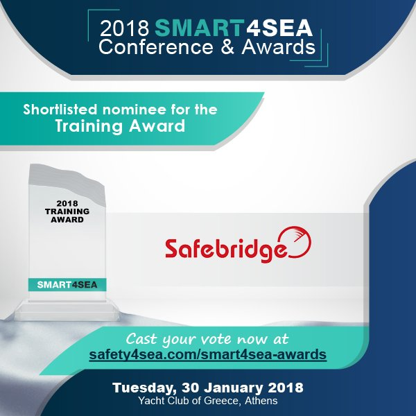 Safebridge has been shortlisted for the Training Award 2018!