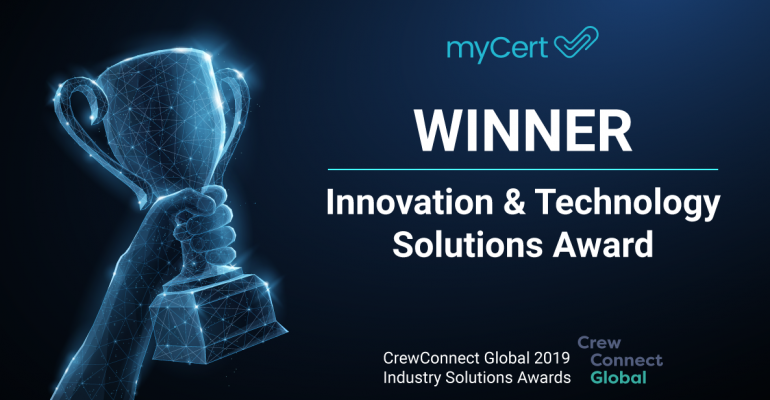 And the award goes to myCert!
